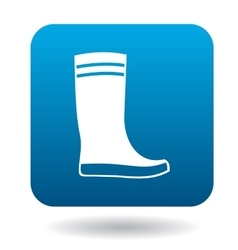 Boot icon in simple style vector
