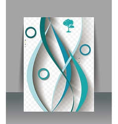 Brochure design template with abstract waves vector image