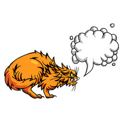 cartoon image of angry cat vector image