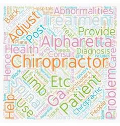 Chiropractor alpharetta ga text background vector