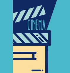 Clapboard cinema cartoon vector