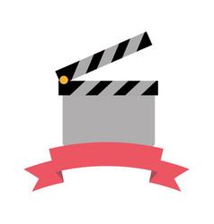 clapperboard film industry vector image