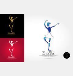 Classical ballet logo vector