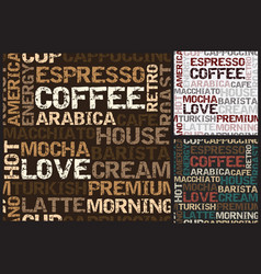 coffee pattern closeup vector image