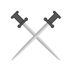 comic pair of swords vector image