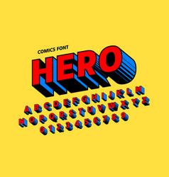 comics style font design alphabet letters vector image