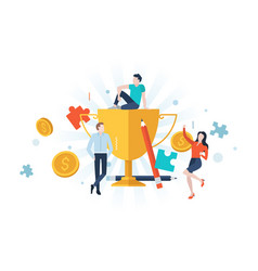 concept business success vector image