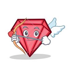 Cupid diamond character cartoon style vector