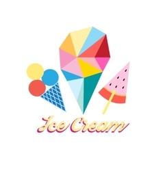 Different ice cream vector image