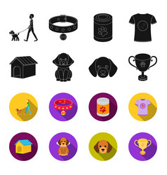 dog house protective collar dog muzzle cup dog vector image