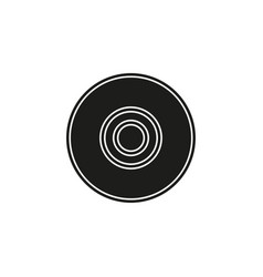 download dvd button - media or music player vector image