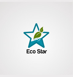 eco star logo icon element and template vector image