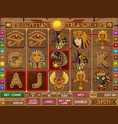 egyptian slots game vector image