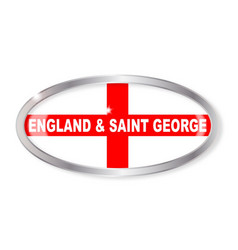 England and saint george oval button vector