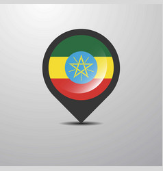 Ethiopia map pin vector