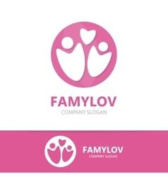 Family logo design template vector