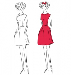 fashiongirlred vector image