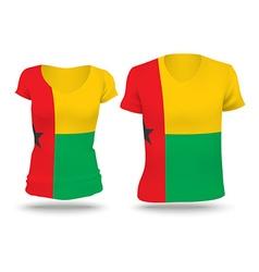 Flag shirt design of Guinea-Bissau vector image