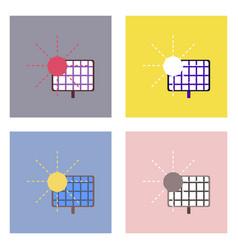 Flat icon design collection solar energy vector