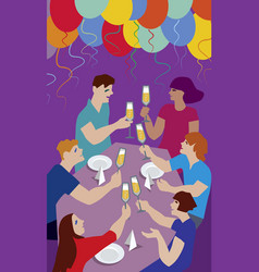 friends having a toast vector image