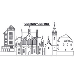 Germany erfurt line skyline vector