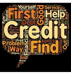 Good Credit vs Bad Credit text background vector image