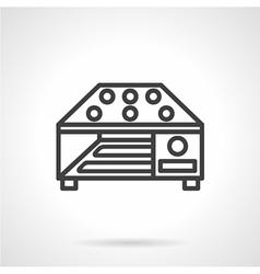 Grain dryer simple line icon vector