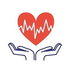 Heart care symbol vector