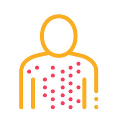 Human disease icon outline vector
