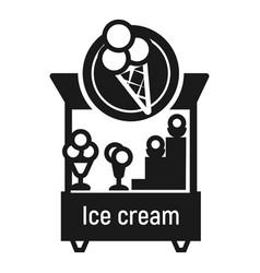 Ice cream kiosk icon simple style vector