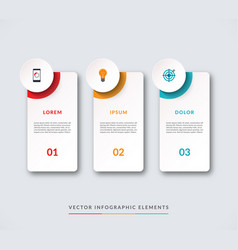 Infographic banner with 3 circles and tabs vector