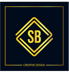 Initial letter sb logo template design vector