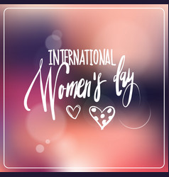 international women day greeting card beautiful vector image
