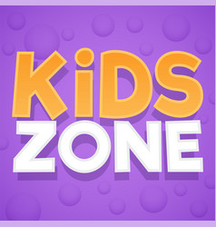 kids zone colorful playing park playroom or vector image