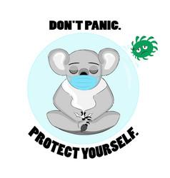 Koala bear virus picture vector