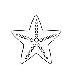 line beauty starfish animal that live in the sea vector image