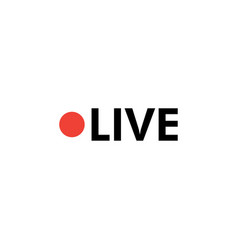 live icon design template isolated vector image