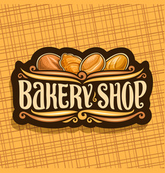 Logo for bakery shop vector