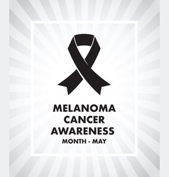 melanoma cancer awareness vector image