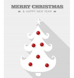 merry christmas dot white tree vector image
