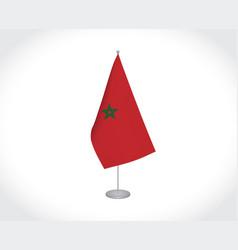 Morocco flag on white background vector