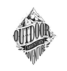 outdoor hand drawn lettering vector image