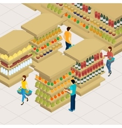 People Shopping vector image