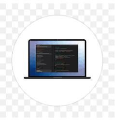 programming language and web development icon vector image