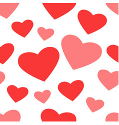 repeated pattern with hearts vector image