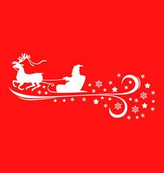 Santa ridding sleight vector