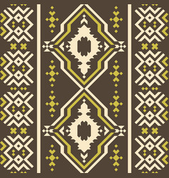 seamless geometric pattern with ethnic motifs vector image