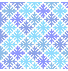 Seamless pattern with geometric snowflakes vector