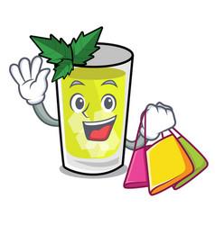 Shopping mint julep character cartoon vector