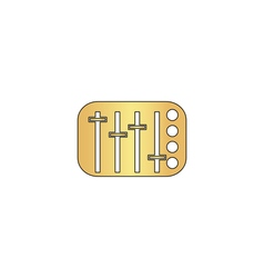 Sound Mixer computer symbol vector image